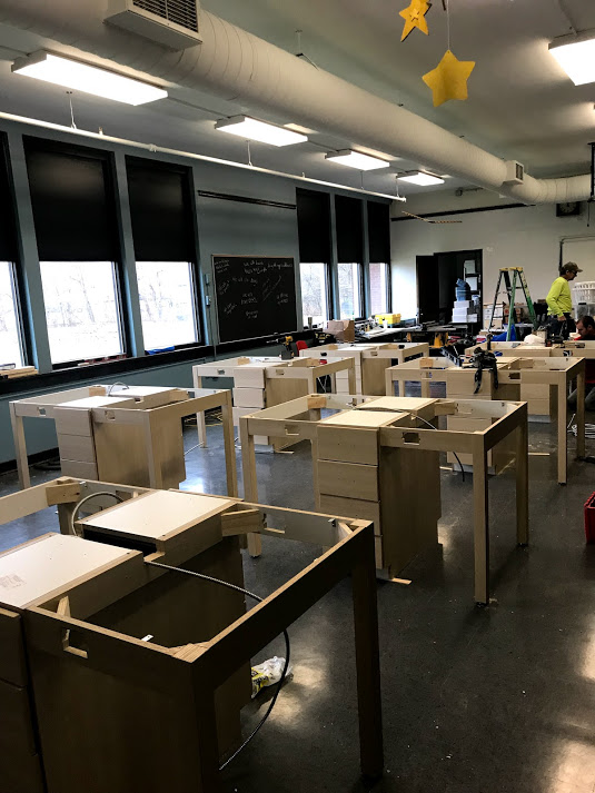 Makerspace lab tables